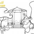 Coloriage Corneil et Bernie : au parc