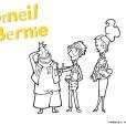 Coloriage Corneil et Bernie : avec John et Elisabeth