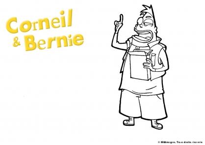 Coloriage Corneil et Bernie :  Bernie est perplexe