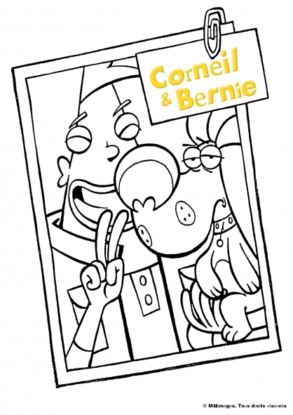 Coloriage Corneil et Bernie : en photo