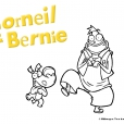 Coloriage Corneil et Bernie : joyeux