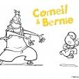 Coloriage Corneil et Bernie :  posent