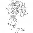 Coloriage Elves : Aira jouant avec le vent