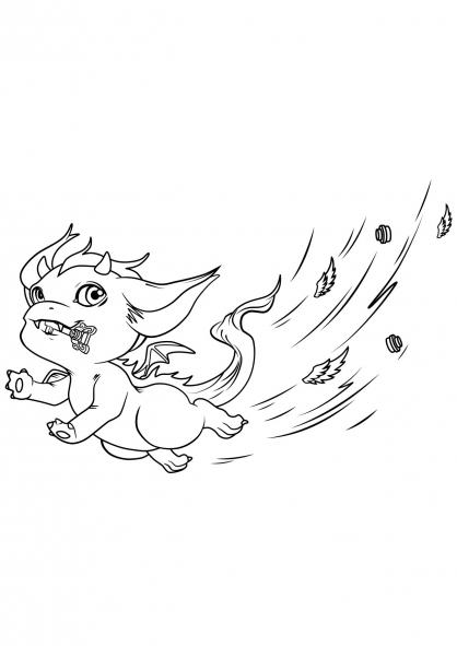 Coloriage Elves : Le dragon farceur