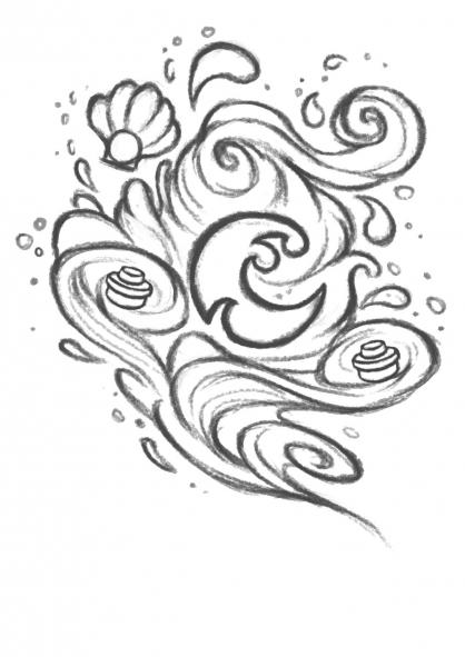 Coloriage Elves : Le signe de l'eau