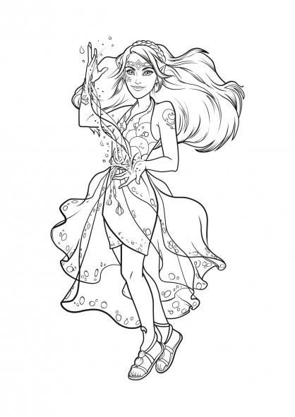 Coloriage Elves : Naida, l'Elfe de l'eau