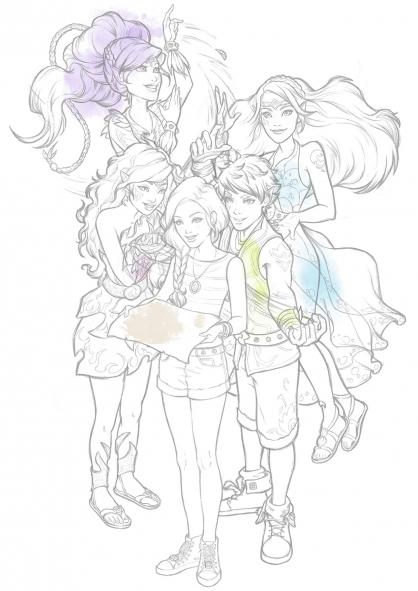 Coloriage Elves : Tous unis !