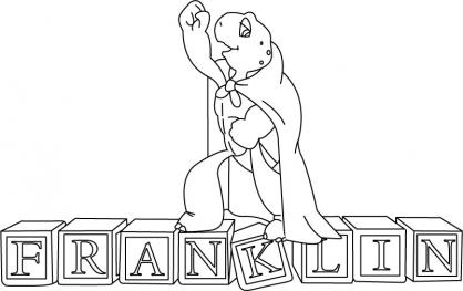 Coloriage franklin 18 coloriage franklin coloriage - Dessin franklin ...