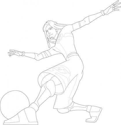 Coloriage Galactik Football 1