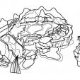 Coloriage L'île de GulliLand