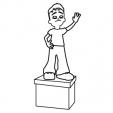 Coloriage La statue de la GulliLand Star