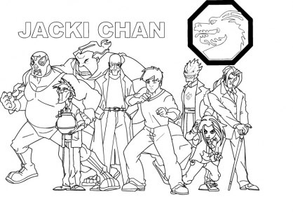 Coloriage Jackie Chan 10