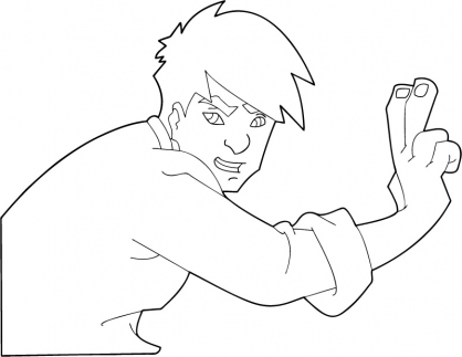Coloriage Jackie Chan 12