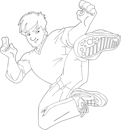 Coloriage Jackie Chan 14