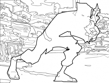 Coloriage Jackie Chan 24