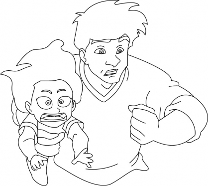 Coloriage Jackie Chan 34