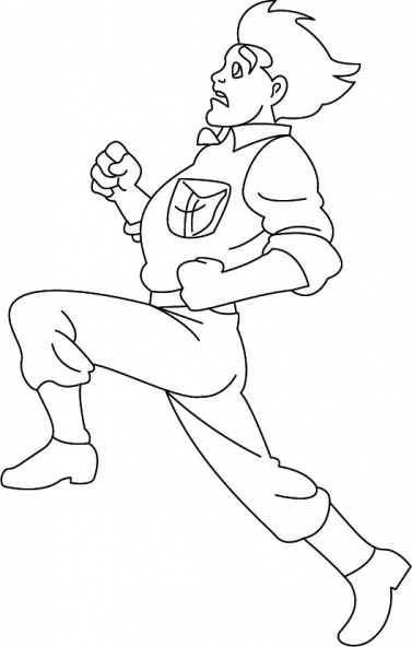 Coloriage Jackie Chan 40