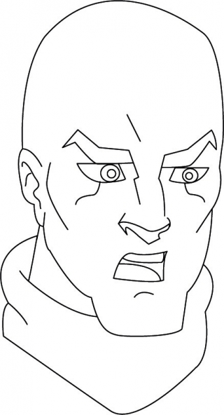 Coloriage Jackie Chan 41