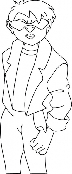 Coloriage Jackie Chan 44