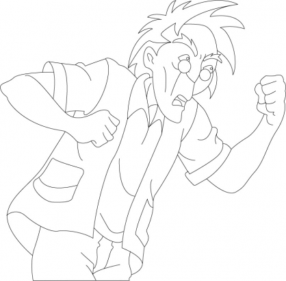 Coloriage Jackie Chan 46