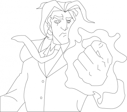 Coloriage Jackie Chan 48
