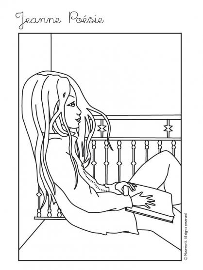 Coloriage Jeanne Poésie 17