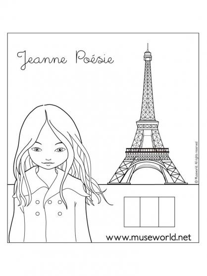 Coloriage Jeanne Poésie 24