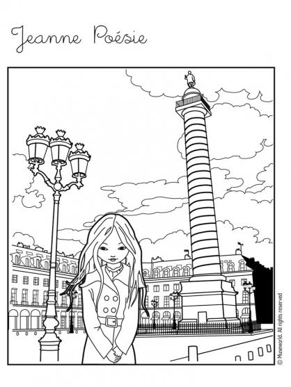 Coloriage Jeanne Poésie 5