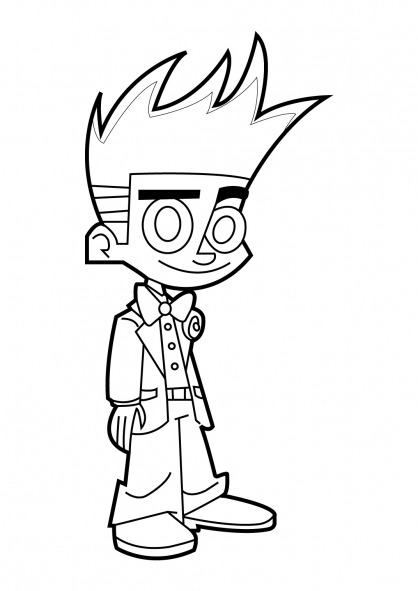 Coloriage Johnny Test 14