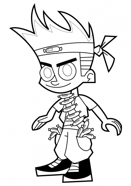 Coloriage Johnny Test 16