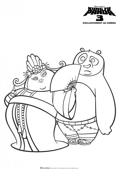 Coloriage Mei Mei et Po