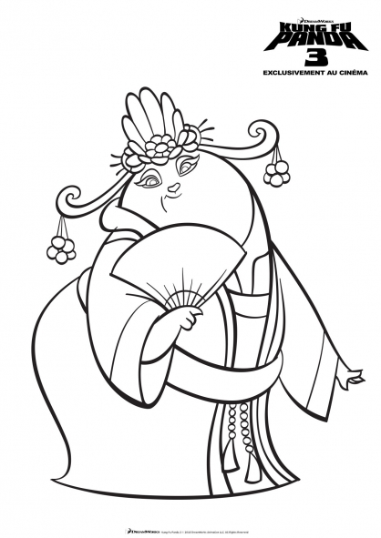 Coloriage mei mei coloriage kung fu panda 3 coloriage dessins animes - Coloriage kung fu panda ...