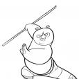 Coloriage Po fait du Kung Fu