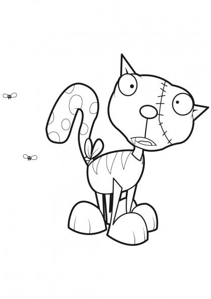 Coloriage Le chat de Frankenstein 15