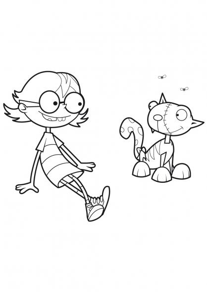 Coloriage Le chat de Frankenstein 17