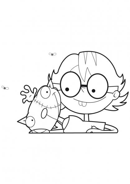 Coloriage Le chat de Frankenstein 19