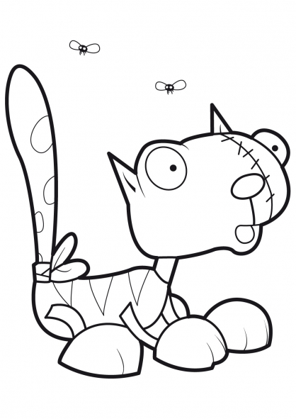 Coloriage Le chat de Frankenstein 5