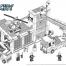 Coloriage LEGO City : La caserne des pompiers