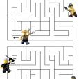 Coloriage LEGO City : Le labyrinthe