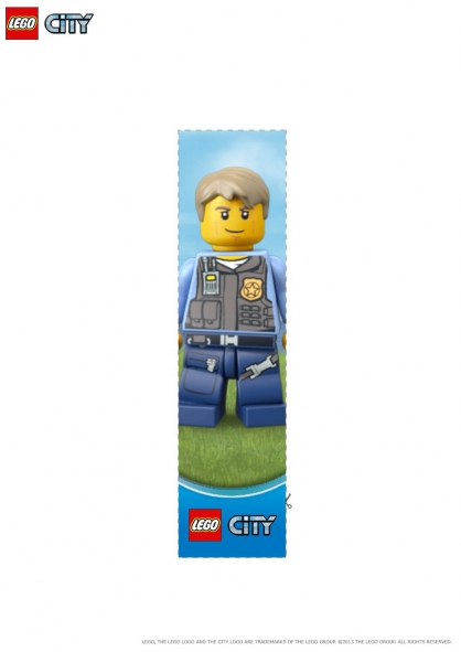 Coloriage LEGO City : Le marque-page policier