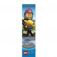 Coloriage LEGO City : Le marque-page pompier
