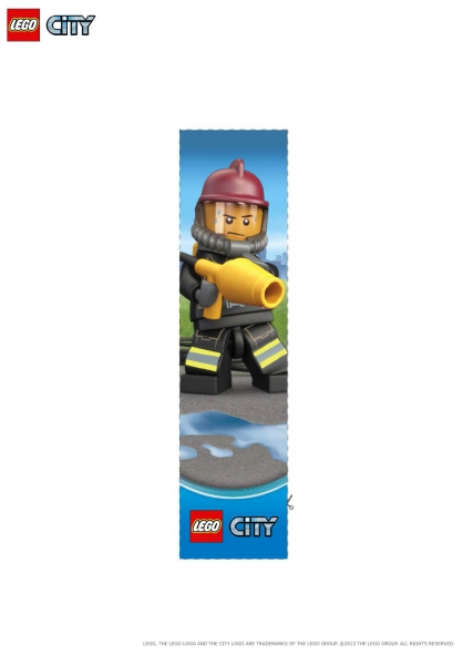 Coloriage lego city le marque page pompier coloriage - Coloriage de lego city ...