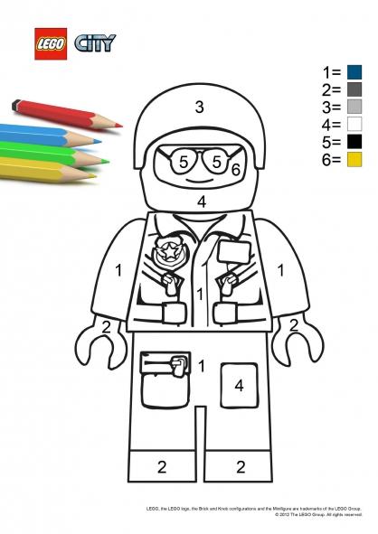 Coloriage lego city le policier coloriage lego city - Dessin de lego city ...