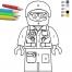 Coloriage LEGO City : Le policier
