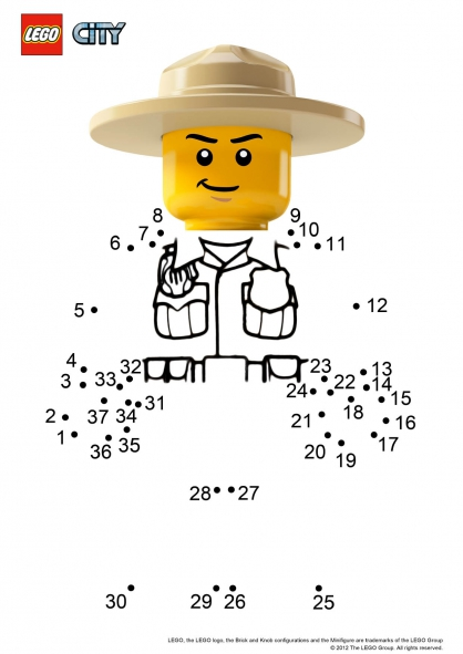 Coloriage lego city le ranger coloriage lego city - Dessin de lego city ...