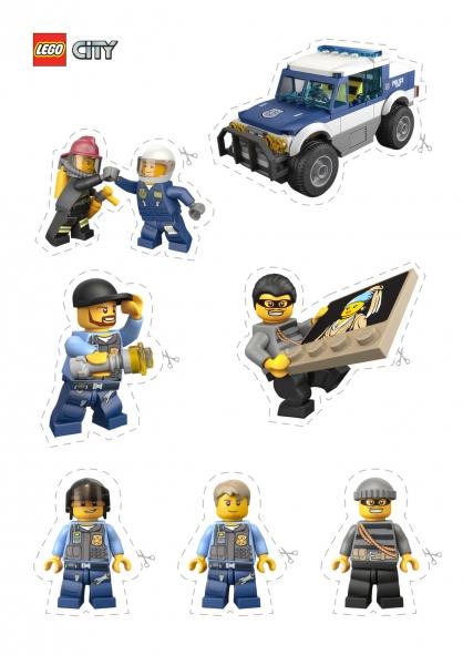 Coloriage lego city les personnages de la police - Dessin de lego city ...