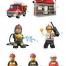 Coloriage LEGO City : Les pompiers