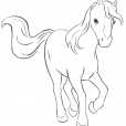 Coloriage coloriage-friends-cheval