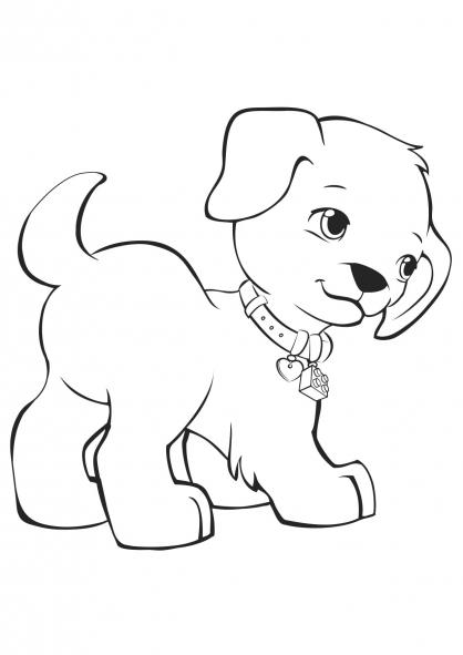 Coloriage coloriage-friends-chien