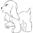 Coloriage coloriage-friends-chien_2